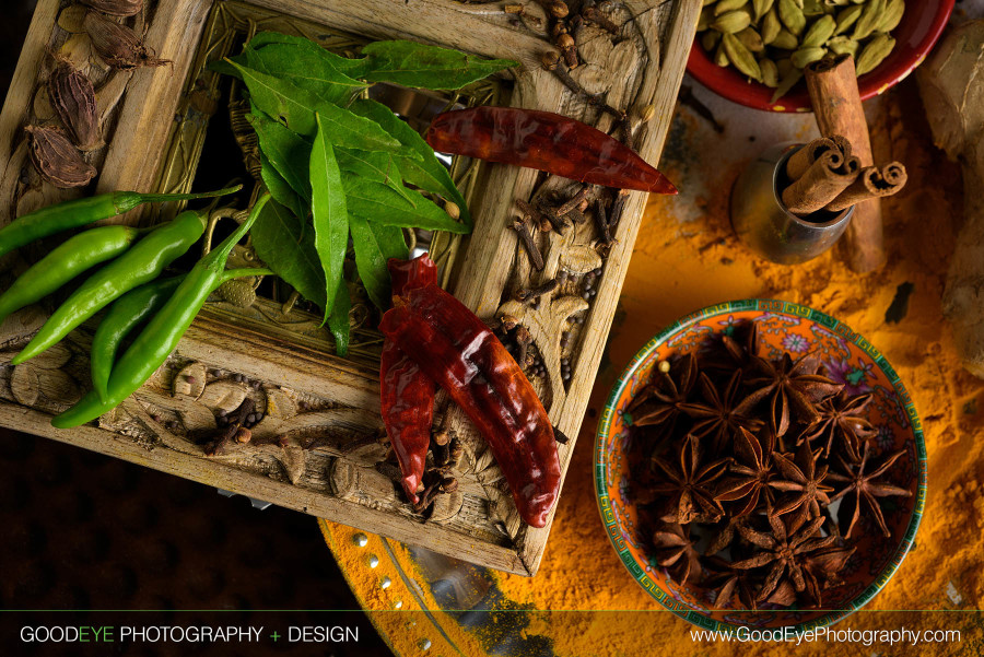 Curry Root Indian Food Ingredients - Bay Area Food Photography - by Bay Area commercial photographer Chris Schmauch www.bayareacommercialphotographers.com