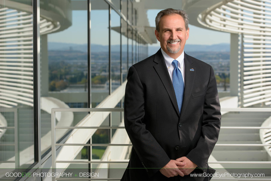 Executive Business Portrait Photography - San Jose City Hall - by Bay Area commercial portrait photographer Chris Schmauch