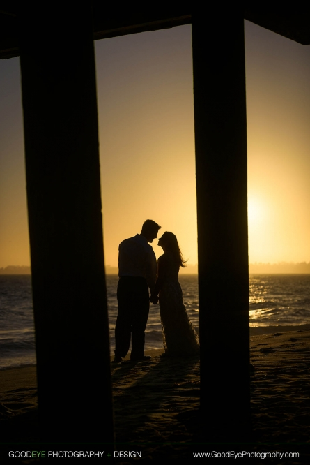 Bridal Portrait Photography at Seacliff Beach in Aptos, California