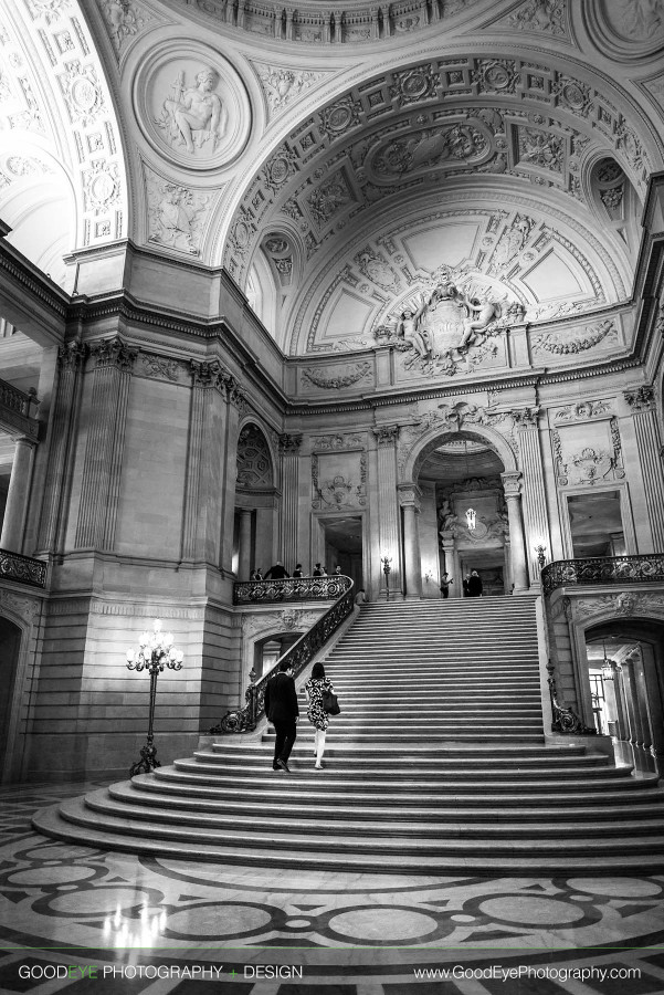 Engagement Photos at San Francisco City Hall - Jamie and Will - by Bay Area wedding photographer Chris Schmauch