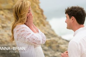 Title Image - Davenport Beach Wedding / Engagement Proposal Photography - Julianna and Brian - photos by Bay Area wedding photographer Chris Schmauch www.GoodEyePhotography.com