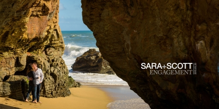 Title Image - Panther Beach Santa Cruz and Quail Hollow Felton engagement photography - Sara and Scott - photos by Bay Area wedding photographer Chris Schmauch