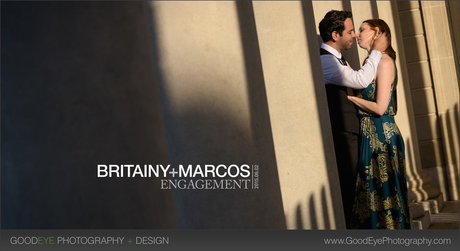 Legion of Honor engagement photos - San Francisco - Britainy and Marcos - photos by Bay Area wedding photographer Chris Schmauch