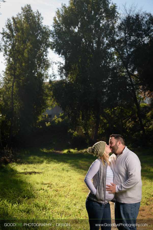 Stevie and Angelo Maternity Photography –Covered Bridge Park, Felton –by Bay Area photographer Chris Schmauch www.GoodEyePhotography.com