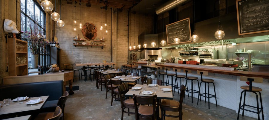 Commercial Restaurant Architectural Interior Photography (Panoramic) in San Francisco
