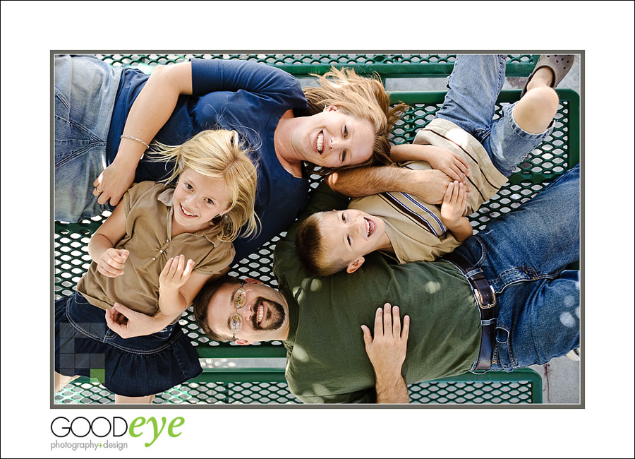 Conrad Family candid photo from above - Santa Cruz Professional Family Photography - Sunol, CA - by Chris Schmauch, GoodEye Photography + Design