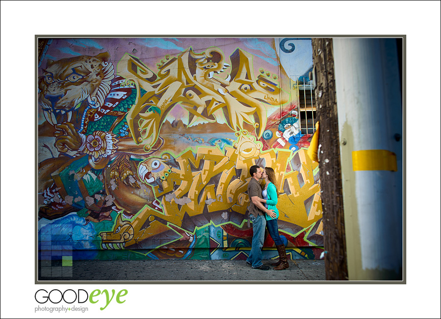 Engagement Photos in the San Francisco Mission District and Palace of Fine Arts