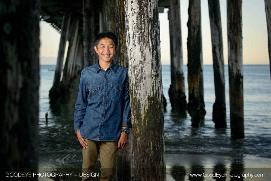 Capitola Beach Senior Portrait Photos - Brandon - Sneak Peek