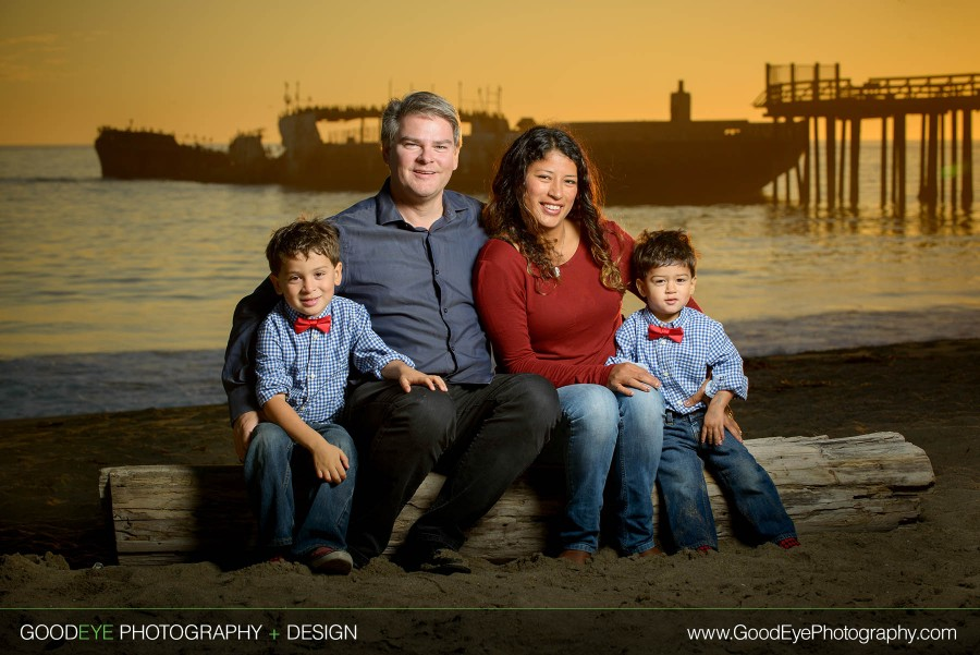 Seacliff Beach Family Photos at Sunset - Aptos, CA