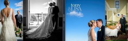 Perry House Wedding Photos - Lisa and Tony Album Design