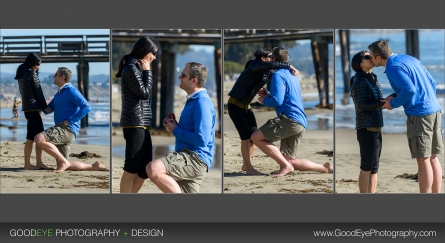 Capitola Proposal photos on the beach