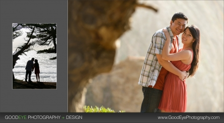 Gray Whale Cove Engagement Photos - Uyen and John
