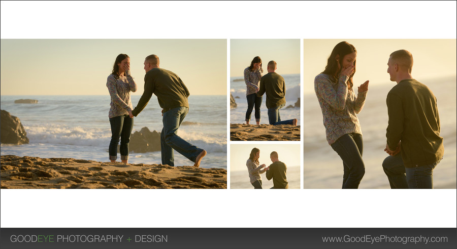 Santa Cruz Proposal / Engagement Photos – Panther Beach – Lacie and Joe – by Bay Area wedding photographer Chris Schmauch www.GoodEyePhotography.com