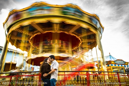 Pier 39 Engagement Photos San Francisco - Jonathan and Rachel - by Bay Area Wedding Photographer Chris Schmauch www.GoodEyePhotography.com