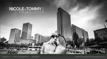 San Francisco Engagement Photos - Coit Tower, Embarcadero, Ferry Building, Bay Bridge, Piers - Nicole and Tommy
